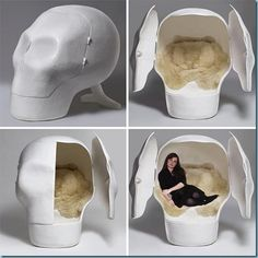 pretty cool skull bed. looks more like a chair to me tho!