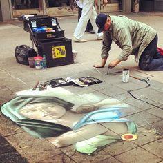 Chalk art on Stephen Avenue #IAMDOWNTOWN #yyc