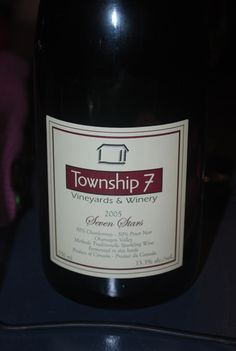 Township 7 Seven stars Pinot Noir, Wines, Tours, Bottle, Flask, Jars