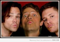 Supernatural duck faces. Can't be repelled by salt -- not that we want them to be. ;)