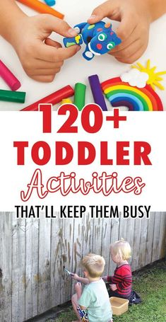 120 + Toddler Activities that'll Keep them Busy! Toddler Learning Activities, Games For Toddlers, Parenting Toddlers, Summer Activities For Kids, Indoor Activities, Infant Activities, Preschool Activities, Toddler Play, Toddler Preschool