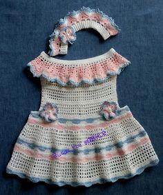 Baby Girl Crochet Pattern Sun Dress and Matching Le Petite Bandeau! 12-18 mo Pattern PDF