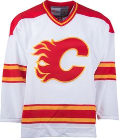 6d8abc1edb7 Calgary Flames CCM Vintage 1989 White Stanley Cup Replica NHL Hockey Jersey  Nhl Hockey Jerseys,
