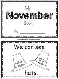 Free November Book For Kindergarten (10 pages)
