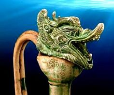 Dragon Top of Ewer, found among objects recovered from the Belitung Shipwreck. @ Asian Civilisations Museum, Singapore.