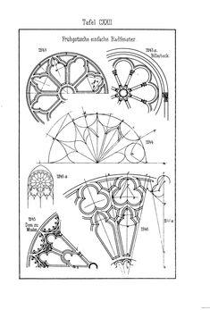 Gothic window details.