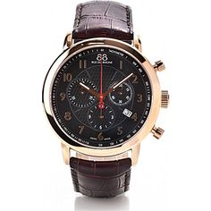88 RUE DU RHONE 87WA120050 rose gold-plated chronograph watch (Brown