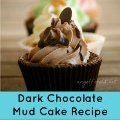 Dark Chocolate Mud Cake Recipe | Chocolate mud cake recipe that customers will come back for - again & again! This is a special {no-fail, moist, easy} dark chocolate mud cake recipe. | http://angelfoods.net/dark-chocolate-mud-cake-recipe/
