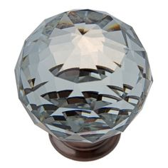 Overstock.com Mobile / GlideRite 1.57-inch Clear K9 Crystal Cabinet Knobs Oil Rubbed Bronze (Pack of 10 or 25)