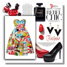 """""""Yestn Contest"""" by fashion-rebel-chic ❤ liked on Polyvore featuring Chanel, Nico, Moschino, NARS Cosmetics and yestnshoes"""