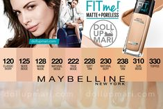 Maybelline Fit Me Matte+Poreless Foundation Review and Swatches   Doll Up Mari Base Maybelline, Superstay Maybelline, Maybelline Matte And Poreless, Maybelline Concealer, Fit Me Matte And Poreless, Maybelline Fit Me Foundation, Makeup Foundation, Maybelline Fit Me Swatches, Makeup Swatches