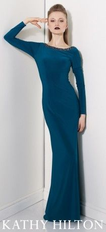 Kolları saran uzun abiye modeli, Kathy Hilton uzun elbise