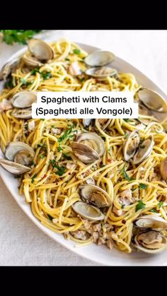 Clam Recipes, Cheesy Recipes, Fish Recipes, Cooking Recipes, Pasta Recipes Linguine, Seafood Pasta Recipes, Light Pasta Recipes, Seafood Linguine, Italian Dinner Recipes