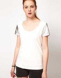 Vila Metallic Sleeve T-Shirt