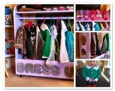 Fabulous storage for kids dressing up clothes!