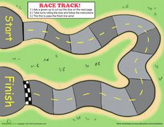 Printable Track For Sight Word Games To Play With Cars