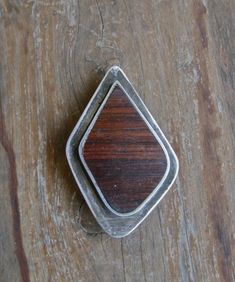 Ted Lowy Pin Rosewood Sterling