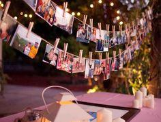 18 Inspirações para montar um painel de fotos na sua festa de casamento!