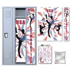 USA Gymnastics Locker Set . Since I'm Canadian I would change it.