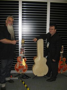 Danny Dean with Bo Huff and Jr. Huff's Pinstripe Gretsch Guitars   the Namm Show