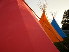 Coloured tipis. www.tipi.guru
