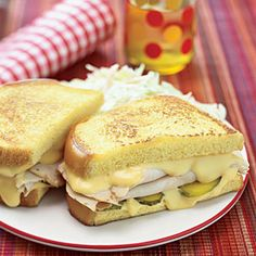Grilled Cheese, Turkey and Pickle:  italian or egg bread, dijon mustard, smoked turkey, cheddar, dill pickles.