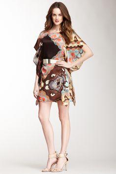 Silk Butterfly Belted Dress