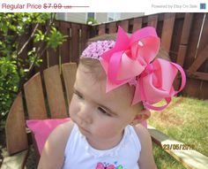 ON SALE NOW Lots of Pinks Boutique Bow by littlemacboutique,