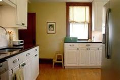 photos of white kitchen with yellow trim - Bing images