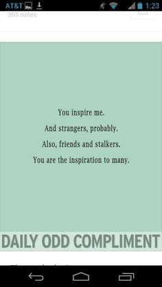 You inspire me :)