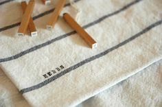 These IKEA towels cost about $2/ea and can be repurposed into eco-friendly market sacks.