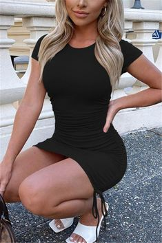 Red Sexy Regular Sleeve Short Sleeve O Neck Mini Solid Dresses_DRESSES_KnowFashionStyle | Wholesale Shoes,Wholesale Clothing, Cheap Clothes,Cheap Shoes Online. - KnowFashionStyle.com Orange Fashion, Grey Fashion, Blush Dresses, Sexy Dresses, Sleeve Dresses, Cheap Shoes Online, Great Legs, Sexy Skirt, Curvy Women Fashion