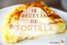 12 recetas de tortilla Egg Recipes, Mexican Food Recipes, Snack Recipes, Snacks, Spanish Tapas, Spanish Food, Latin Food, Cooking Time, Gastronomia