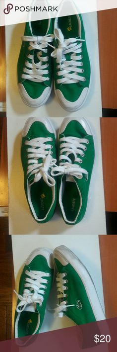 LACOSTE  WOMAN   sneakers. LACOSTE WOMAN  green color  sneakers. Shoes Sneakers