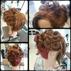 #Updo by our student, Chelsea. #hair #prom #wedding