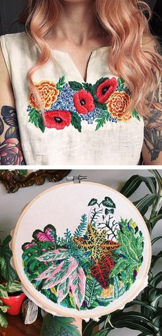 Hoop art by Sam Eldridge // #embroidery // modern embroidery