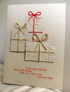 parcels! Birthday and Christmas card idea