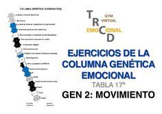 EJERCICIOS FÍSICOS COLUMNA GENÉTICA.Tabla 17, Gen 2.Movimiento Re