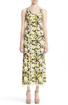 Fuzzi Stripe & Bloom Print Jersey Tank Dress