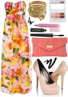 """Maxi Dress~ 1"" by maegal on Polyvore"