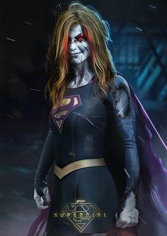 Confira incrível arte de Melissa Benoist como a Bizarro Supergirl! - Legião dos Heróis