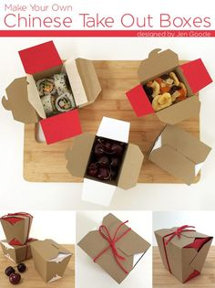 Chinese Take Out Boxes designed by Jen Goode