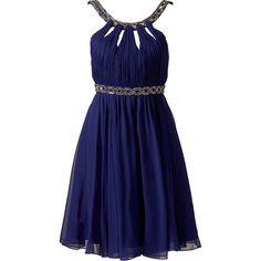 Gracie embellished evening dress ❤ liked on Polyvore