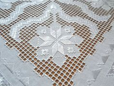 """All I can say is """"Wow"""" on this beautiful white hardanger piece"""