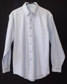 Mouse over image to zoom    Have one to sell? Sell it yourself  Mens Brooks Brothers Non Iron Medium Cashmere Blend Blue Striped Long Sleeve