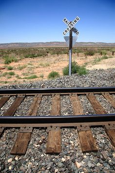 Railroad Tracks and Crossing, American Southwest.