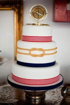 After the last post about 10 ways to rock your Nautical wedding, I decided to focus on just the Cake. Be inspired by these Nautical Wedding Cakes! Wedding Shoot, Wedding Blog, Our Wedding, Dream Wedding, Rustic Wedding, Wedding Ceremony, Cruise Wedding, Camo Wedding, Nautical Wedding Cakes