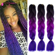 Qp 24 100g Jumbo Kanekalon Braiding Hair Purple Green Sliver Synthetic Crochet Hair For Crochet Braids 100 Colors Refreshing And Beneficial To The Eyes Hair Braids Hair Extensions & Wigs