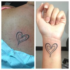 Our mother/daughter tattoos :)