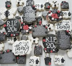 30th Birthday Themes, 30th Birthday Ideas For Women, 30th Birthday Decorations, Thirty Birthday, Diy Party Decorations, Birthday Bash, 30th Party, Birthday Cookies, Thirtieth Birthday
